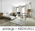 ベッド 寝台 寝床のイラスト 48241911