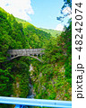 黒部渓谷 後曳橋から望む跡曳水路橋 48242074