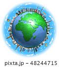 地球ランドマークヨーロッパ青空2 48244715
