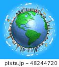 地球ランドマークアメリカ青空 48244720