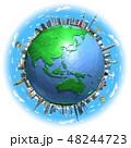 地球ランドマークアジア青空2 48244723