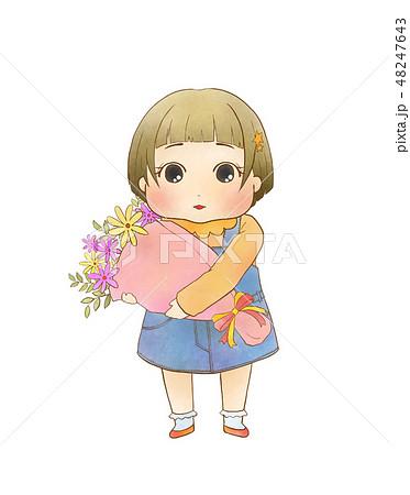 花束を持った女の子 48247643