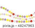 パッチワーク生地 水玉 背景素材  ポストカード  48247963