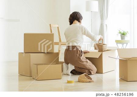 引越作業の女性 48256196