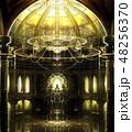 ゴシック 教会 背景 3D 縦長 48256370