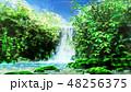 滝 背景 3D 48256375
