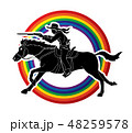 カウボーイ ガン 鉄砲のイラスト 48259578