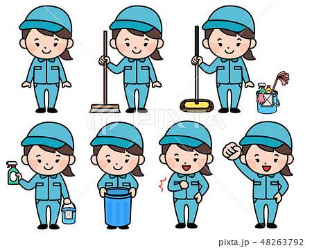 清掃員 女性 48263792