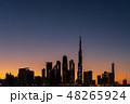 ブルジュ・ハリファとドバイの都市風景 マジックアワー 48265924