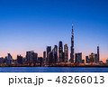 ドバイ都市風景 マジックアワー 48266013