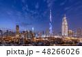 ブルジュ・ハリファとドバイの都市風景・夜景 48266026
