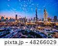 ブルジュ・ハリファとドバイの都市風景・夜景 HDRイメージ 48266029