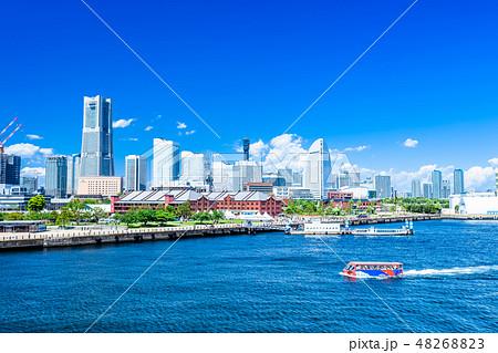 神奈川 横浜 みなとみらいの風景 48268823