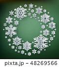 クリスマス スノーフレーク 雪片のイラスト 48269566