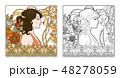ポートレート 女 女の人のイラスト 48278059