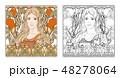 ベクトル ポートレート 女のイラスト 48278064