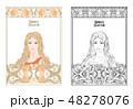 ポートレート 女 女の人のイラスト 48278076