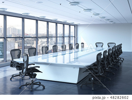 Office Photorealistic Render. 3D illustration. Meeting room. 48282602