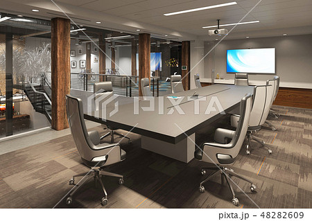 Office Photorealistic Render. 3D illustration. Meeting room. 48282609