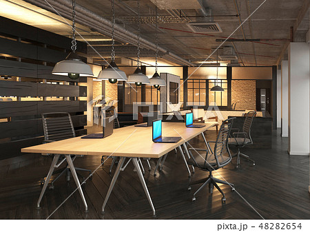 Office Photorealistic Render. 3D illustration. Meeting room. 48282654
