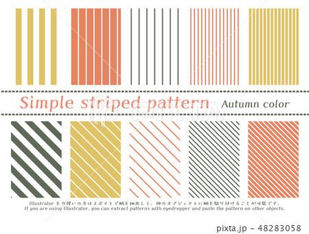 シンプルストライプのパターン 48283058