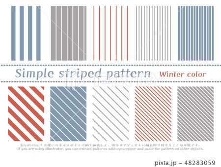 シンプルストライプのパターン 48283059
