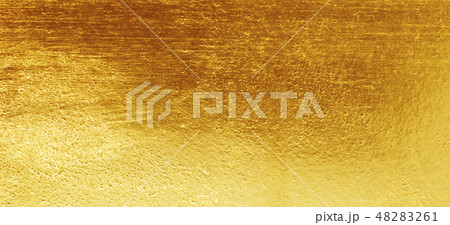 Shiny yellow leaf gold foil texture 48283261