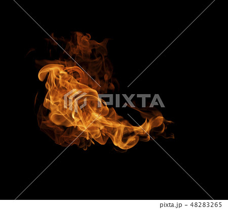 Fire flames background 48283265