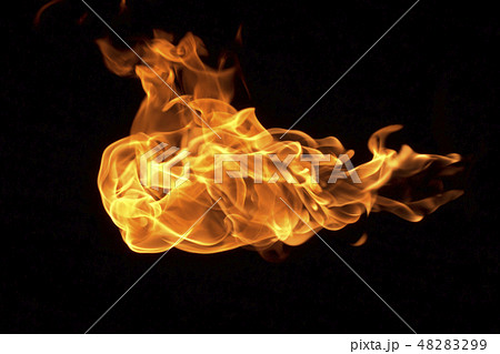 Fire flames background 48283299