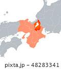 ベクター 滋賀県地図 地図のイラスト 48283341
