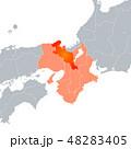 京都府地図 京都 地図のイラスト 48283405
