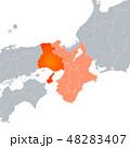 兵庫県地図 兵庫県 地図のイラスト 48283407