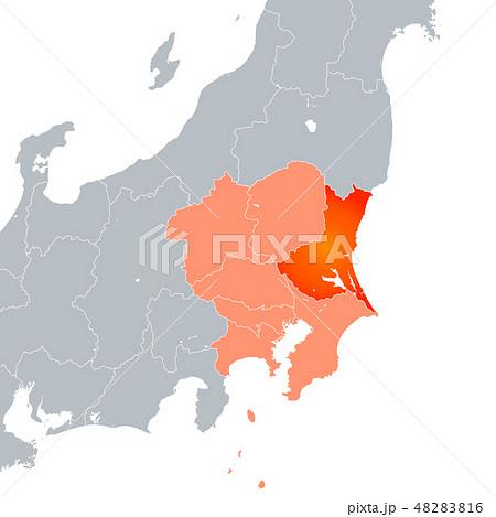 茨城県地図と関東地方 48283816