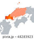 山口県地図 山口県 地図のイラスト 48283923