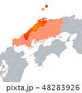 島根県地図と中国地方 48283926