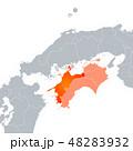 愛媛県地図と四国地方 48283932