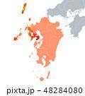 長崎県地図と九州地方 48284080