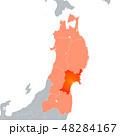 宮城県地図と東北地方 48284167
