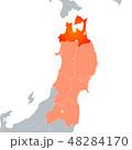 青森県地図 青森県 地図のイラスト 48284170