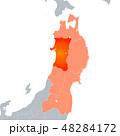 秋田県地図と東北地方 48284172