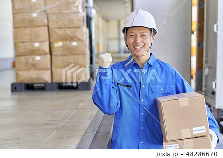 ビジネスシーン 倉庫 物流 48286670