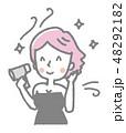 女性【線画・シリーズ】 48292182