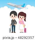 旅行 新婚旅行 飛行機のイラスト 48292357