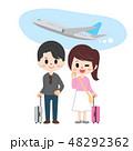 旅行 新婚旅行 飛行機のイラスト 48292362