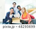 グローバルビジネス チームワーク 多国籍  外資系 ベンチャー IT 48293699