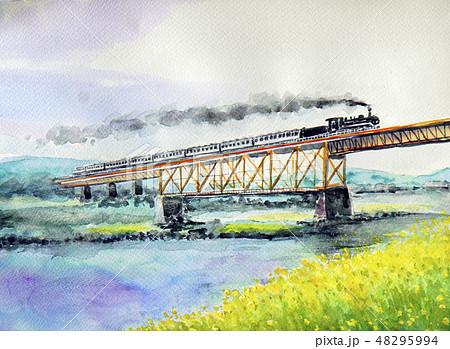 SLばんえつ物語 SL 蒸気機関車 C57-180号 オコジョ展望車両 大正ロマン 48295994