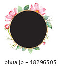 花 フレーム 水彩画のイラスト 48296505