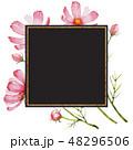 花 フレーム 水彩画のイラスト 48296506
