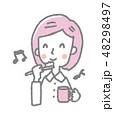 女性【線画・シリーズ】 48298497
