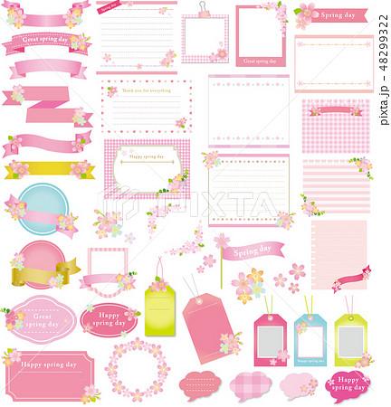 桜のフレームセット 48299322